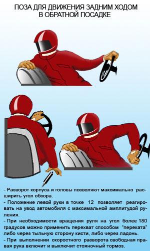 Руление при движении задним