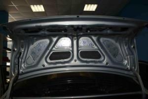 Шумоизоляция крышки и пластиковых панелей багажника