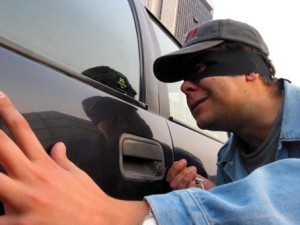 Процесс угона автомобиля