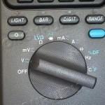 2)Ставим переключатель в позицию V;
