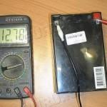 3)Подключить провода к АКБ и сделать замер;