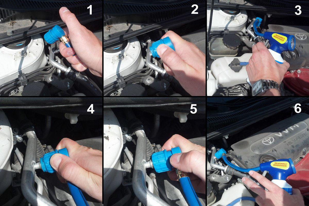 как заправить автомобильный кондиционер своими руками синтетические материалы лучше