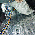 Шумоизоляция пола ВАЗ 2115