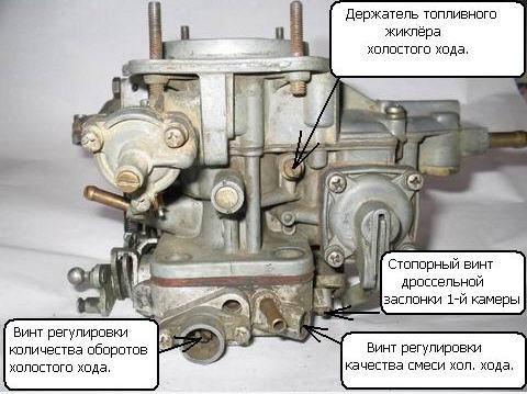карбюратора ВАЗ 2109