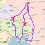 Маршруты до Крыма