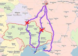 Маршруты до Крыма автомобильные
