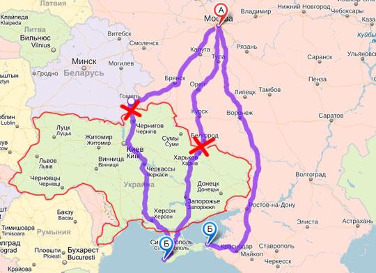 расстояние от владивостока до севастополя без