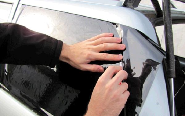 Выкройка пленки по стеклу
