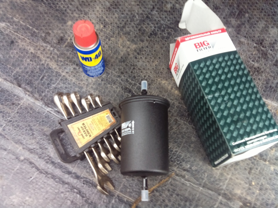 Замена фильтра на инжекторе
