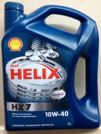 Shell Helix 10W-40.