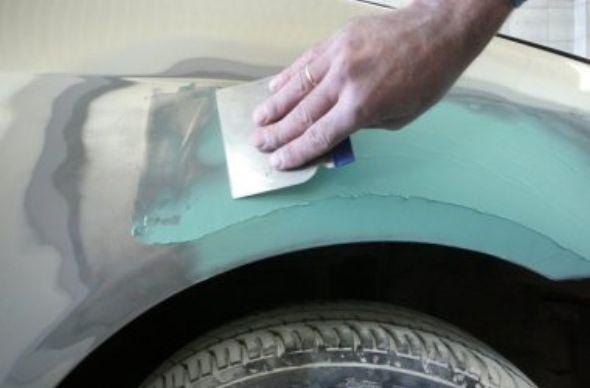 Шпаклевка и покраска машины