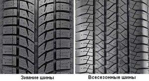 Зимние шины и всесезонка