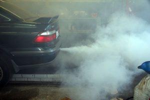 Дым при сгорании масла