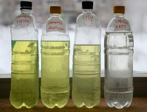 Разные виды солярки и керосина