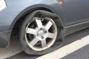 Повреждение колеса