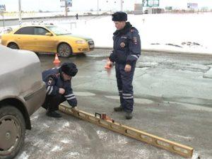 Работа инспекторов на месте происшествия