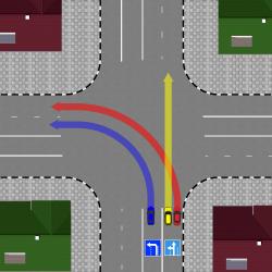 По знакам поворот с двух полос разрешен