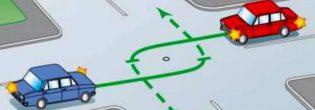 Как выполнять поворот на перекрестке по ПДД?