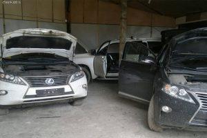 Угнанные машины попадают в отстойник