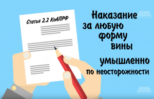 Статья 2.2 КоАПРФ